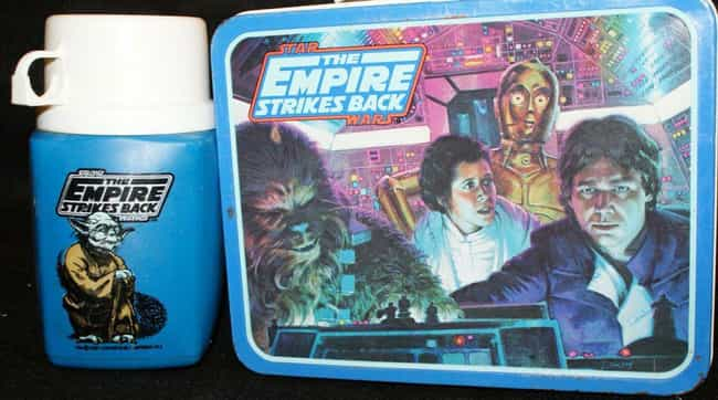 The Empire Strikes Back is listed (or ranked) 1 on the list 25 Awesome Vintage Movie Lunch Boxes That'll Take You Back