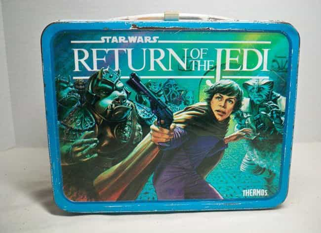 Return of the Jedi is listed (or ranked) 3 on the list 25 Awesome Vintage Movie Lunch Boxes That'll Take You Back
