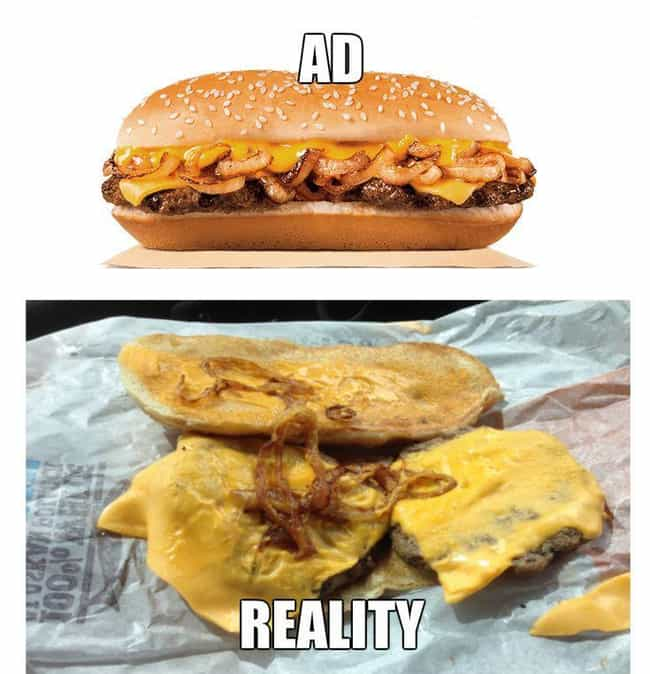 Burger King Extra Long P... is listed (or ranked) 2 on the list Fast Food Menu Items in Real Life That Look Nothing Like the Ads