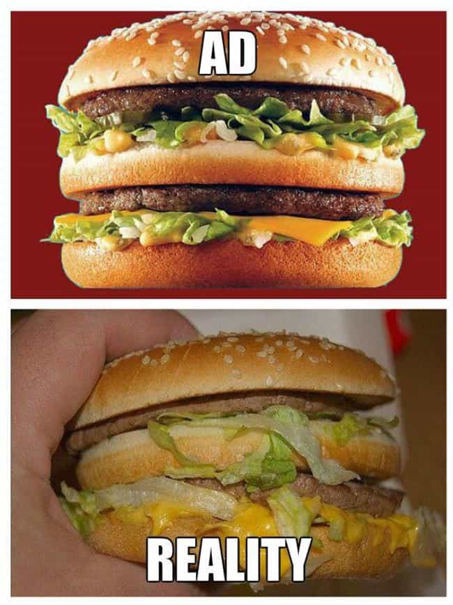 McDonald's Big Mac: Casu... is listed (or ranked) 5 on the list Fast Food Menu Items in Real Life That Look Nothing Like the Ads