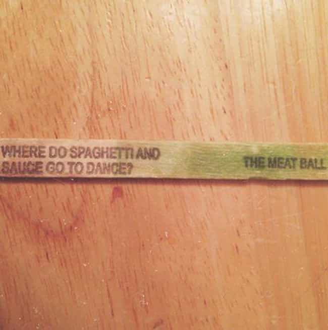 Where Do Spaghetti And S... is listed (or ranked) 1 on the list The Funniest Popsicle Stick Jokes Ever