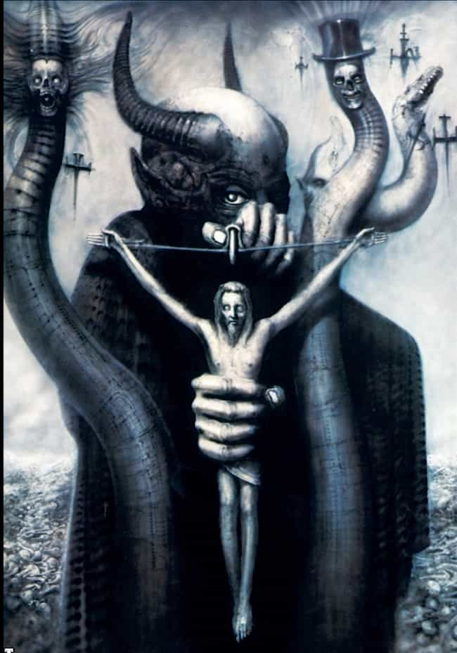 H.R. Giger, 'Satan I,'... is listed (or ranked) 3 on the list The Most Metal Paintings of All Time