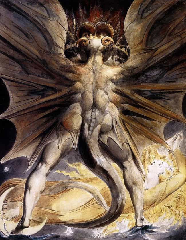 William Blake, 'The Great Red ... is listed (or ranked) 2 on the list The Most Metal Paintings of All Time