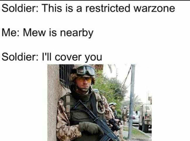 Call of Pokemon: Go Warefare is listed (or ranked) 1 on the list Hilarious Pokemon Go Memes People Are Making