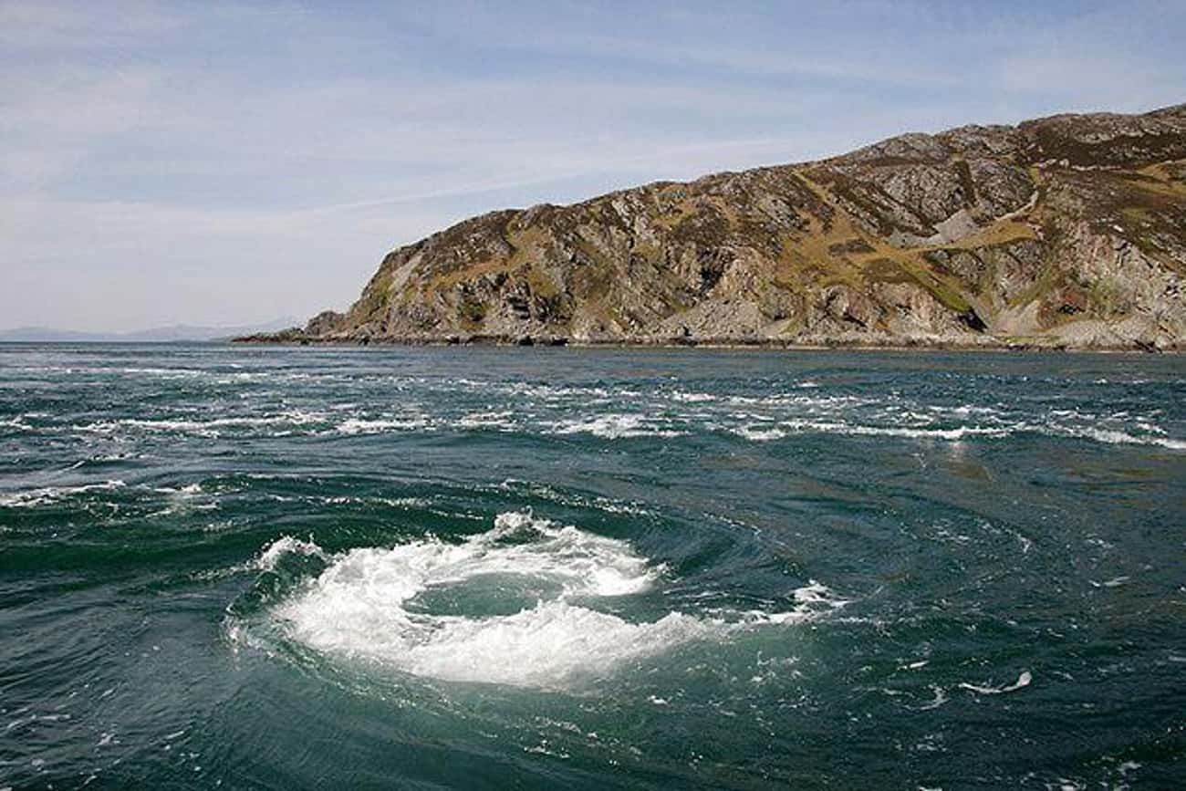 The Corryvreckan Maelstrom Is  is listed (or ranked) 2 on the list The Creepiest Places In The Ocean