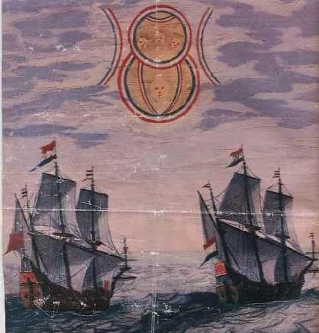 Dutch Ships Maybe Run Across C... is listed (or ranked) 3 on the list Instances of Extraterrestrial/Extra-dimensional Phenomena in Ancient History