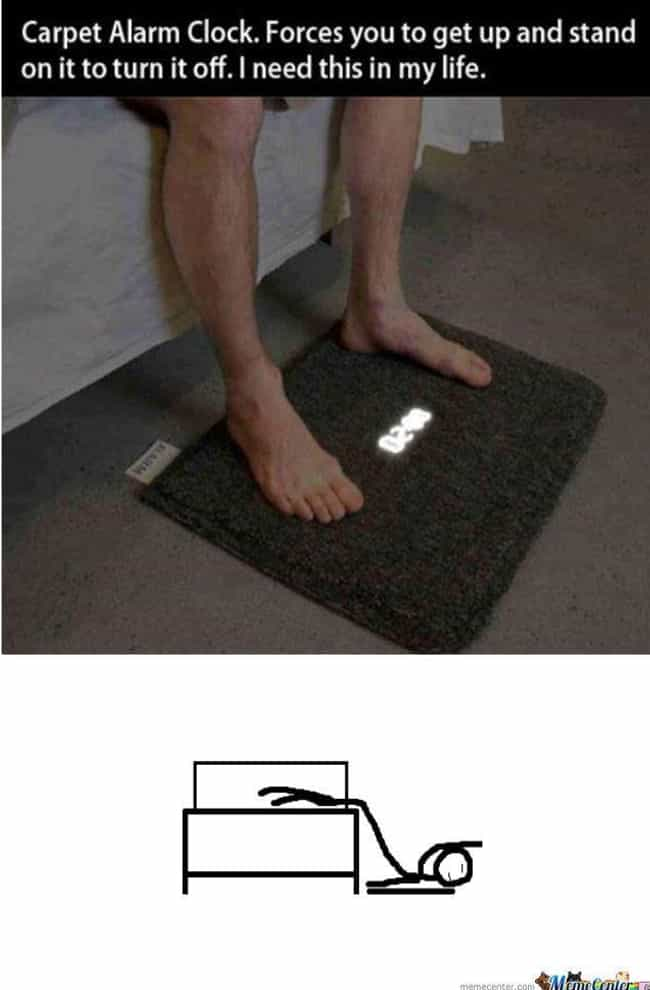 Putting Your Foot Down is listed (or ranked) 4 on the list The Funniest Alarm Clock Memes