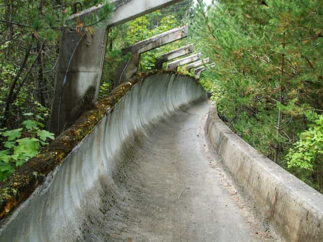 The Bobsled Facility from the ... is listed (or ranked) 1 on the list Creepy Ghost Sites from Past Olympics