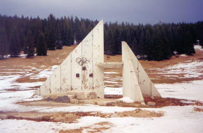 A Podium from the 1984 Olympic... is listed (or ranked) 3 on the list Creepy Ghost Sites from Past Olympics