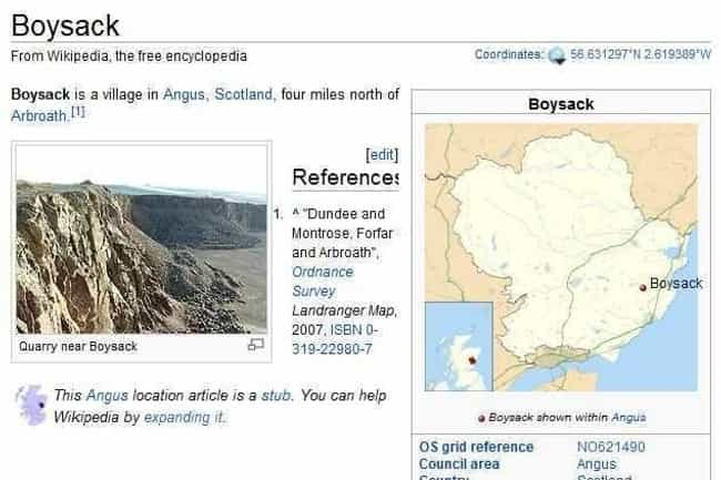 Boysack, Scotland is listed (or ranked) 2 on the list The Dirtiest City And Town Names In The World