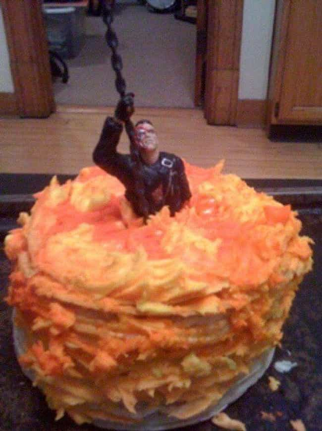 Terminator Lava Cake is listed (or ranked) 2 on the list Hilarious Snack Trays for Your Next Movie Night