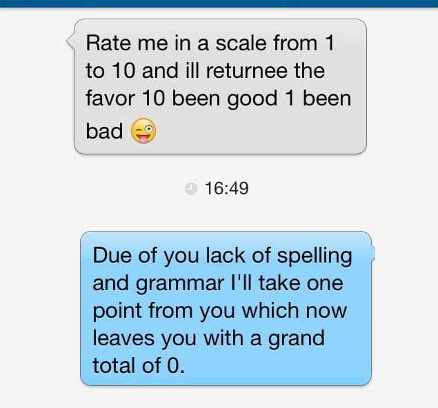 It's Simple Math on Random Sickest Burns from Online Dating Sites