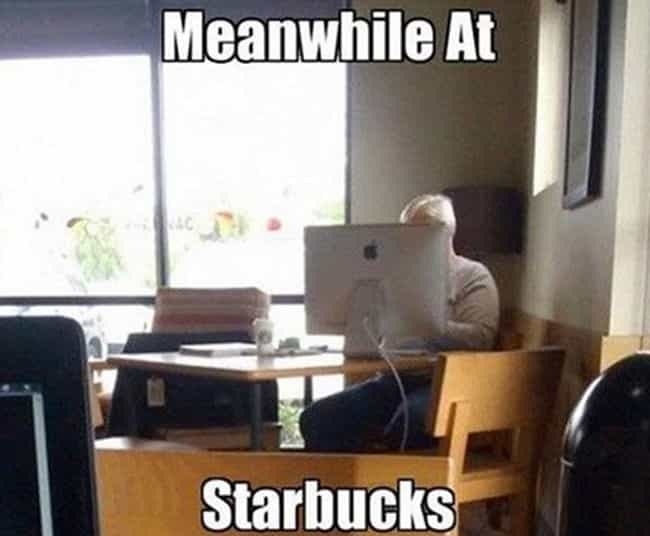 Big Screen Starbucks Experienc... is listed (or ranked) 3 on the list 20 Hilarious 'Meanwhile at Starbucks' Photos