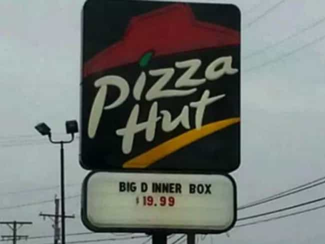 Letter Spacing is Important is listed (or ranked) 2 on the list The Funniest Pizza Signs in All the Land
