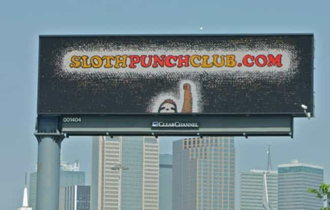 The First Rule of Sloth ... is listed (or ranked) 3 on the list Funny Billboards Spotted On The Open Road