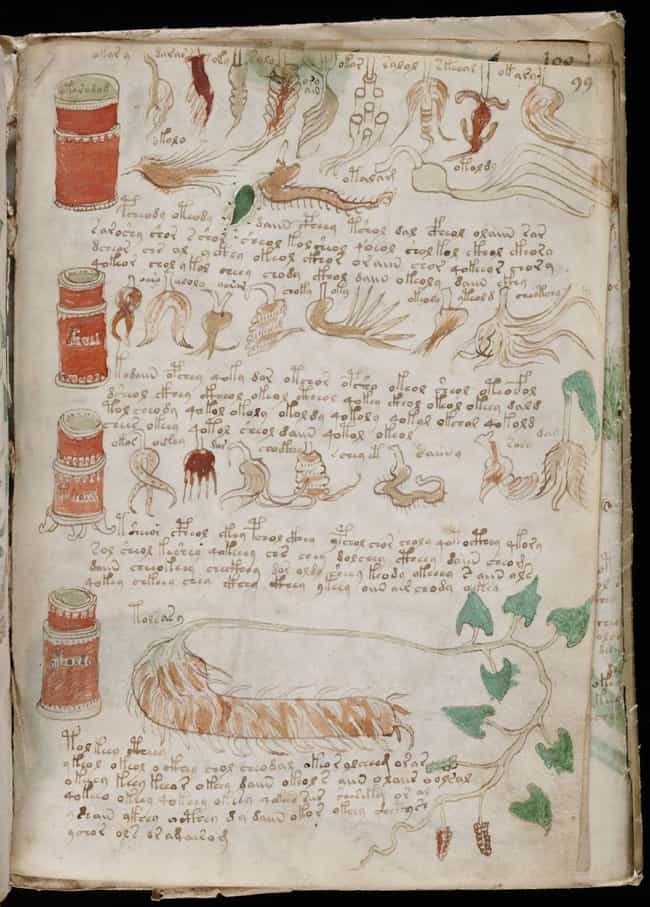 The Voynich Manuscript is listed (or ranked) 1 on the list Unsolved Codes and Ciphers That Might Just Be Jokes (Or Even Gibberish)
