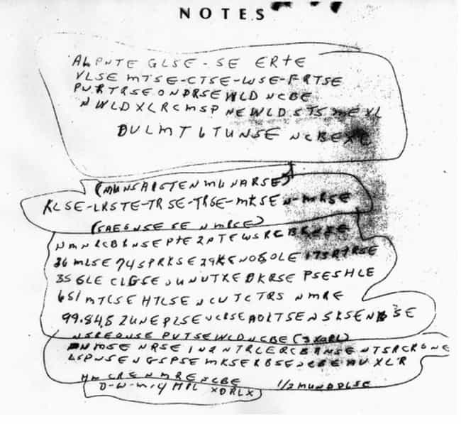 Ricky McCormick's Notes is listed (or ranked) 2 on the list Unsolved Codes and Ciphers That Might Just Be Jokes (Or Even Gibberish)