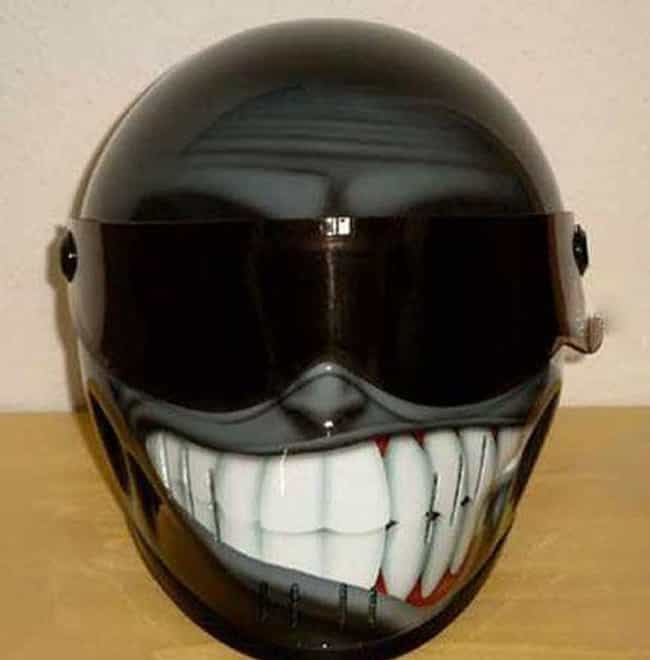 Wipe That Grin off Your Helmet is listed (or ranked) 1 on the list The Funniest Motorcycle Helmets Ever
