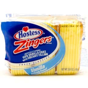 Hostess Vanilla Zingers is listed (or ranked) 13 on the list The Best Hostess Snacks