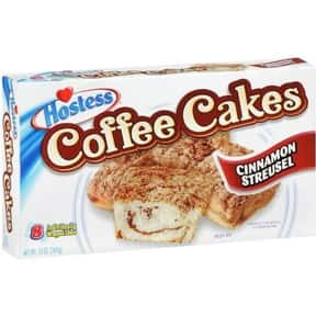 Hostess Coffee Cake is listed (or ranked) 7 on the list The Best Hostess Snacks