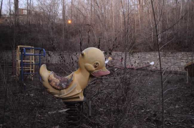 It's Hard to Imagine This ... is listed (or ranked) 1 on the list Creepy Pictures of Abandoned Playgrounds