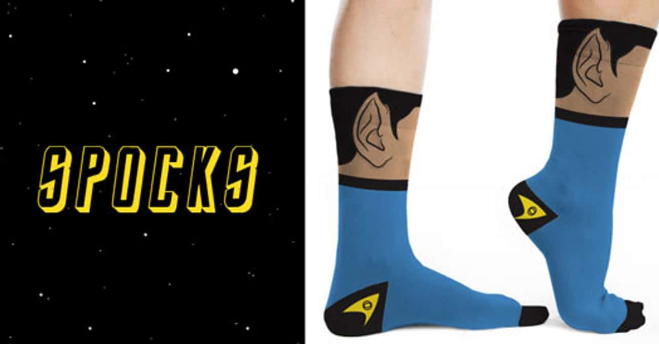 Spock Socks is listed (or ranked) 4 on the list Socks You'll Want to Put on Your Feet Right Now