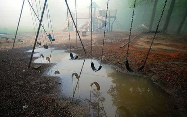 You Just Have to Hope That a H... is listed (or ranked) 2 on the list Creepy Pictures of Abandoned Playgrounds
