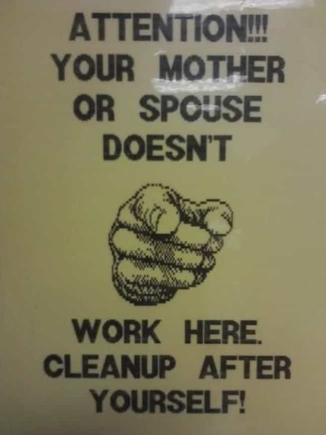 Come Clean is listed (or ranked) 4 on the list 22 Funny Bathroom Etiquette