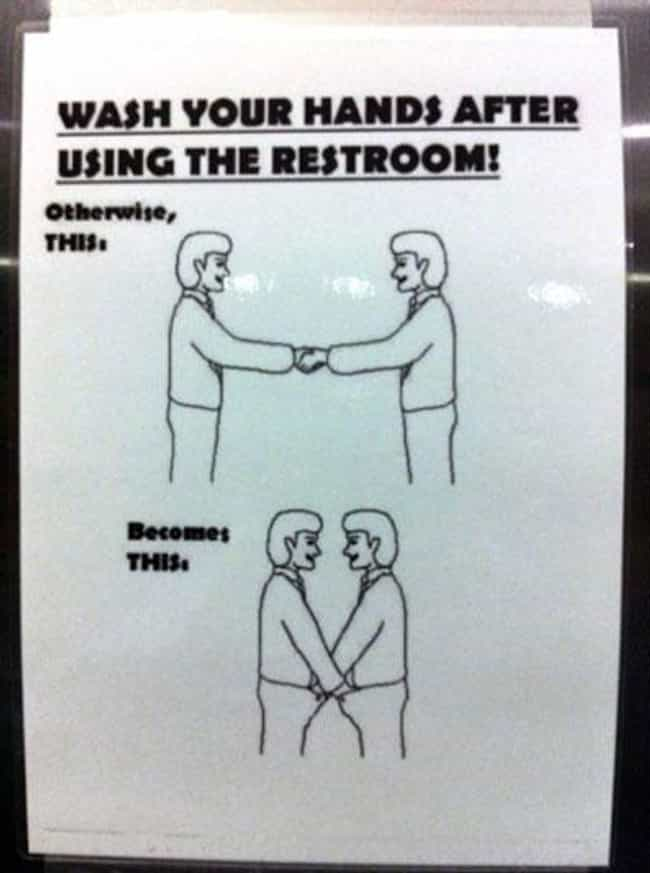 Shake It Off is listed (or ranked) 1 on the list 22 Funny Bathroom Etiquette Signs That Shouldn't Need to Exist