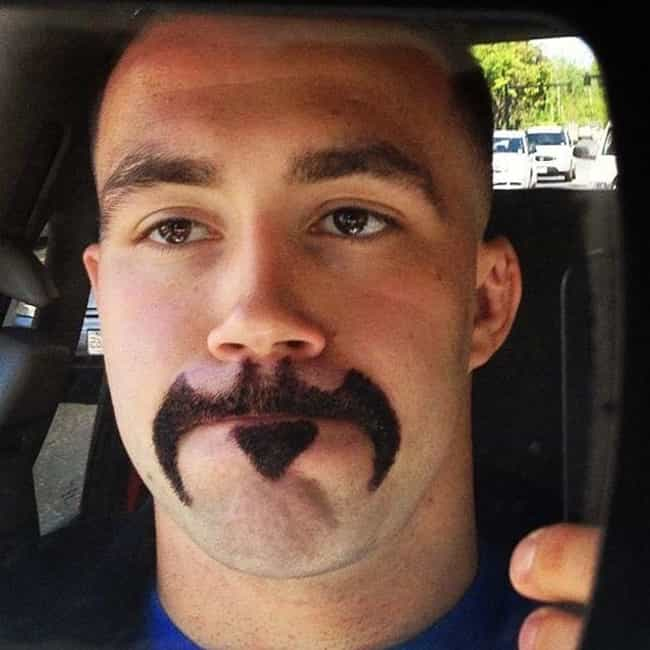 Bat Stache is listed (or ranked) 1 on the list The Funniest Facial Hair Designs Ever