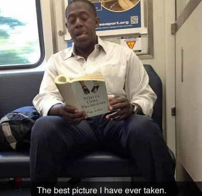 Just Doing Some Research is listed (or ranked) 3 on the list People Caught Reading Funny Things in Public