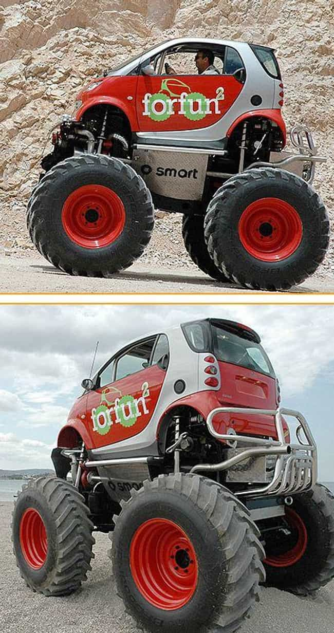 Monster Smart Car is listed (or ranked) 3 on the list The Funniest Moments in Smart Car History