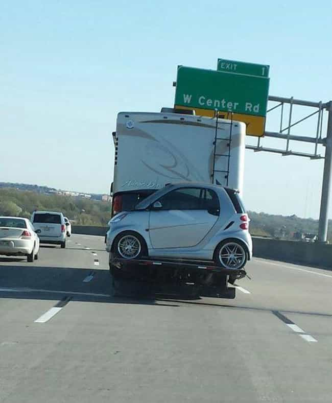 Smart Car Road Trip is listed (or ranked) 4 on the list The Funniest Moments in Smart Car History