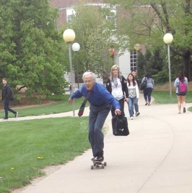 Skating Through College is listed (or ranked) 3 on the list 22 Professors Who Will Make You Miss Your College Days