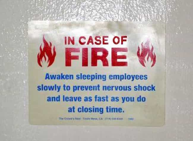"""Sleep Walking is listed (or ranked) 2 on the list """"In Case of Fire"""" Signs That Are Totally on Fire"""