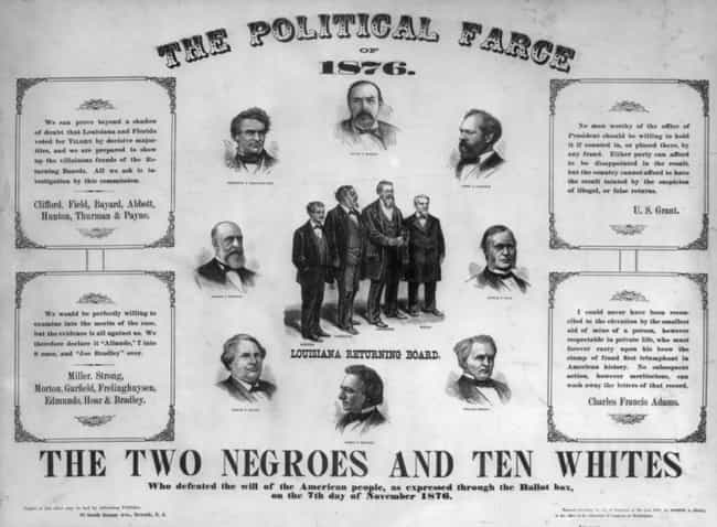 1876: Reconstruction End... is listed (or ranked) 2 on the list The Most Controversial Elections In U.S History