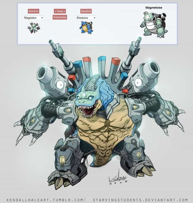 Magnetoise (Magneton + Blastoi... is listed (or ranked) 1 on the list Epic Pokemon Fusions That Are Too Weird For Words