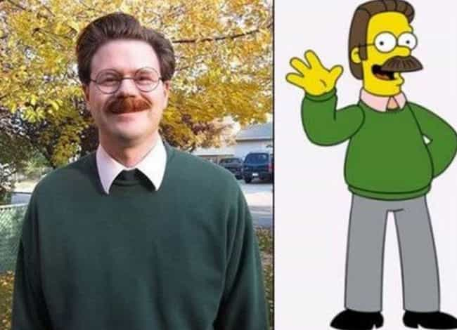 Better Off Ned is listed (or ranked) 2 on the list 25 Cartoon Doppelgangers Spotted In Real Life