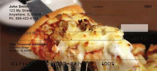 Give Pizza Checks a Chance is listed (or ranked) 1 on the list The 16 Dumbest Personal Check Designs That No Adult Should Have