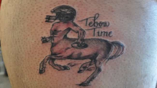 Centaur Tebow is listed (or ranked) 2 on the list The Worst NFL Fan Tattoos Ever