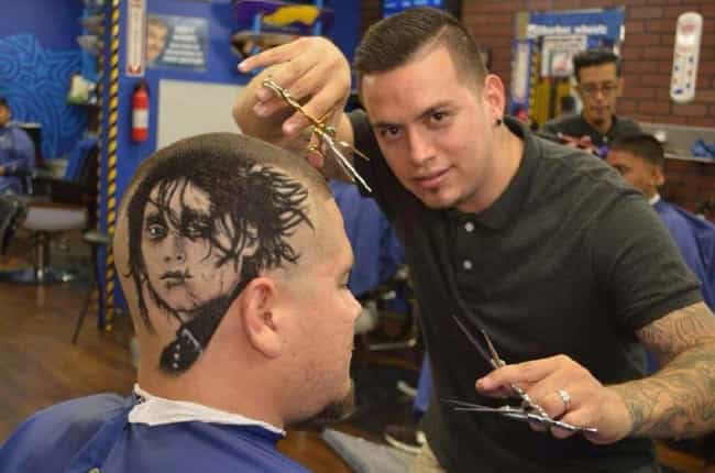Edward Scissorhead is listed (or ranked) 1 on the list Crazy Things People Actually Got Shaved Into Their Hair