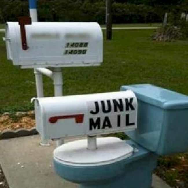 Mail Toilet Humor is listed (or ranked) 1 on the list Inappropriate Mailboxes That Could Only Happen in America