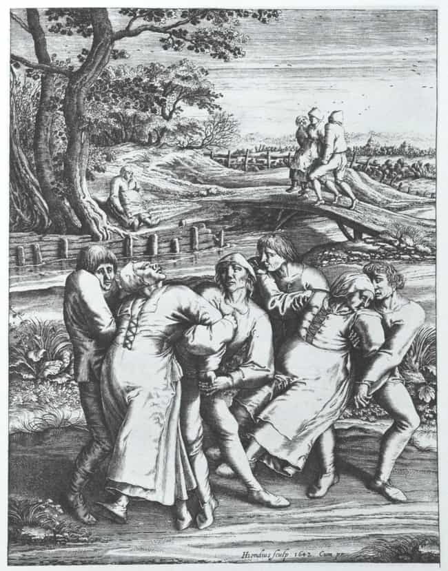 The Dancing Plague of 1518 is listed (or ranked) 2 on the list 12 Crazy Cases of Mass Hysteria Throughout History