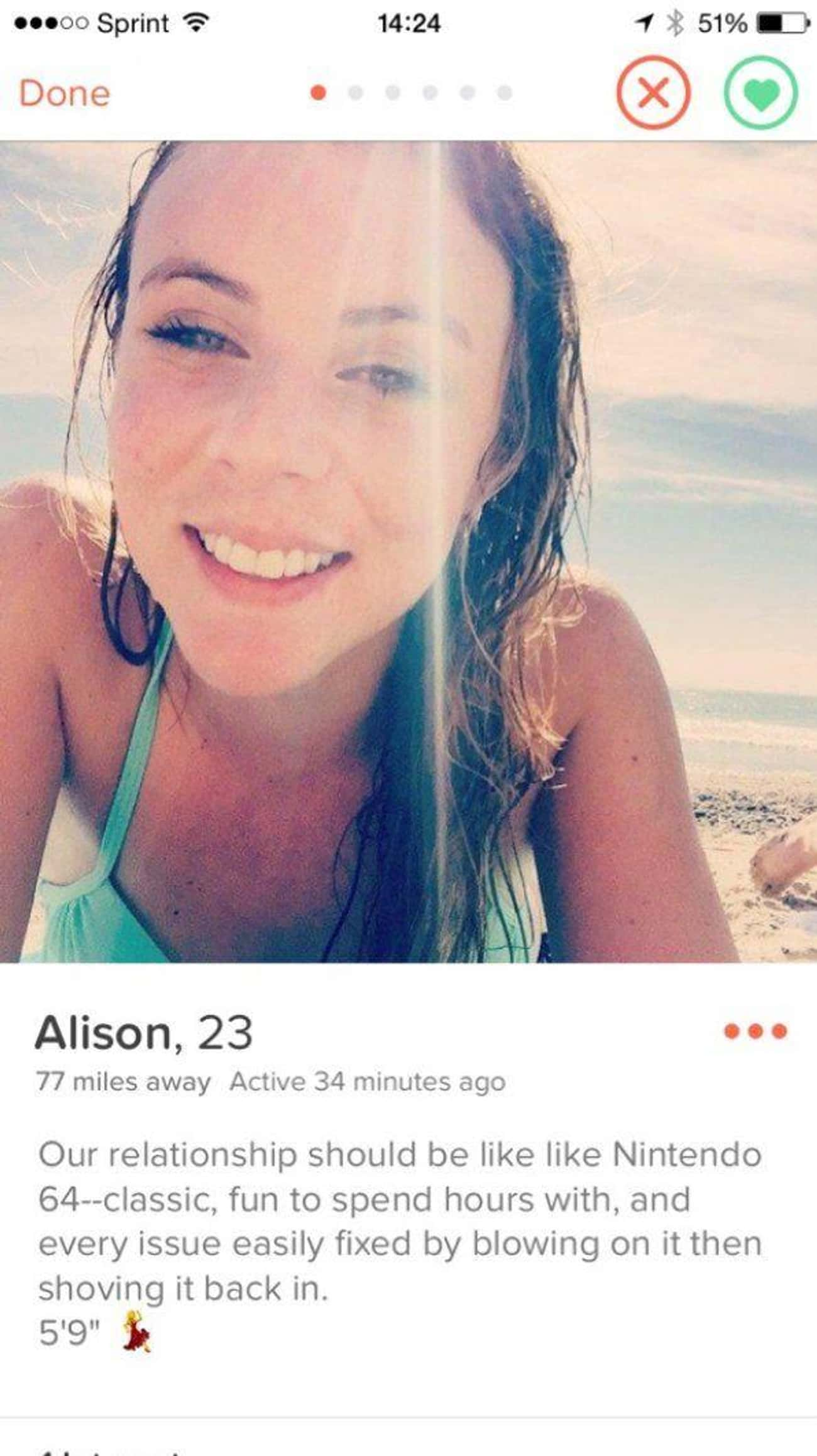 Who Can Resist Such a Poetic M is listed (or ranked) 1 on the list 27 Hilariously Weird Tinder Profiles You'd Swipe Right on for the Heck of It