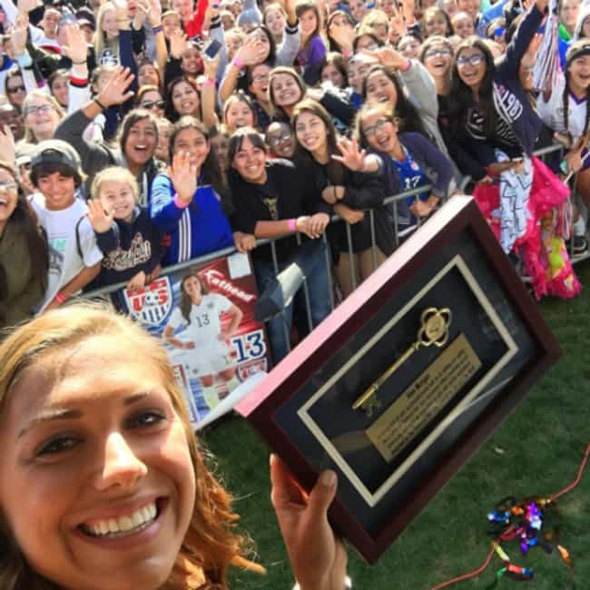 She Received the Key to ... is listed (or ranked) 1 on the list Top Alex Morgan Facts You Should Know: Husband, Net Worth, and More