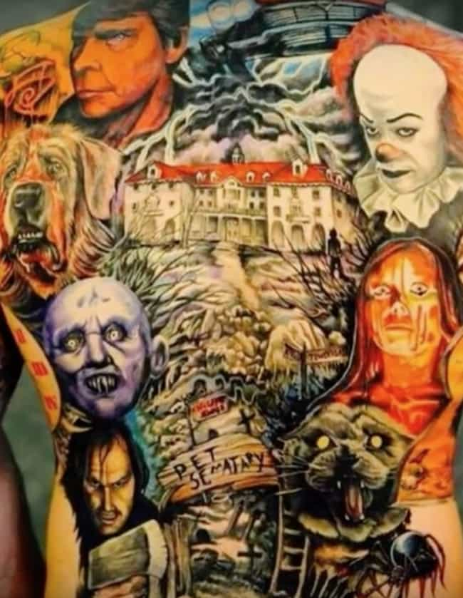 The King's Cinematic World of ... is listed (or ranked) 4 on the list Frightfully Ghoulish Horror Movie Tattoos