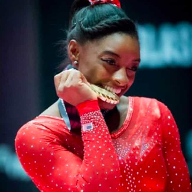 She Is the First Woman t... is listed (or ranked) 4 on the list 10 Simone Biles Facts You Need to Know