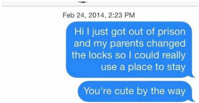 Who Said Chivalry Was De... is listed (or ranked) 3 on the list Tinder Conversations That Will Make You Cringe So Hard