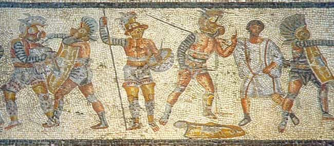 Gladiatorial Fights Started in... is listed (or ranked) 1 on the list Insane Facts You Didn't Know About What It Was Like Being a Roman Gladiator