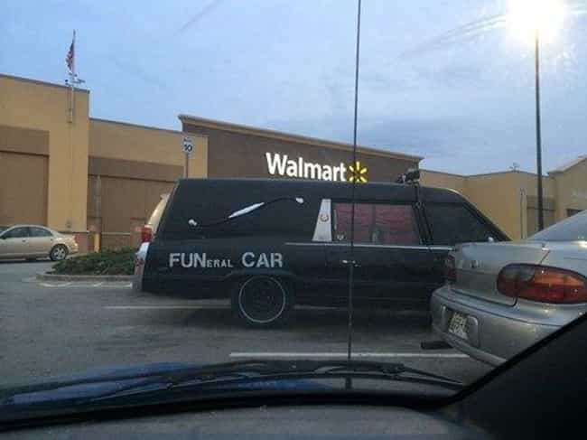 """Putting the """"Fun"""" in F... is listed (or ranked) 3 on the list Funny Hearses You Wouldn't Be Caught Dead In"""